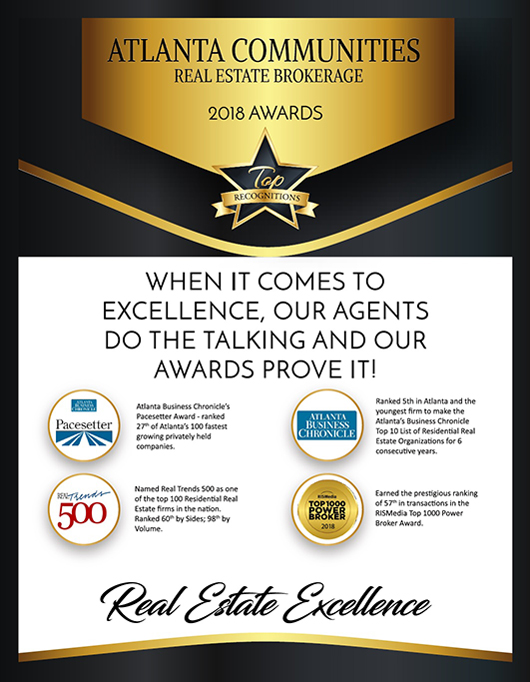 Atlanta Communities Real Estate Brokerage 2018 Awards